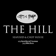 This is the restaurant logo for The Hill Seafood and Chop House