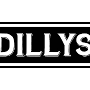 This is the restaurant logo for Dillys Restaurant and Bar